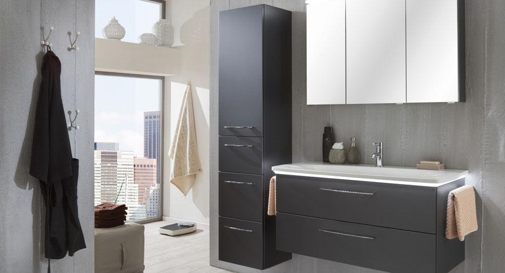 Möbelfolie in grau & silber für Badezimmermöbel