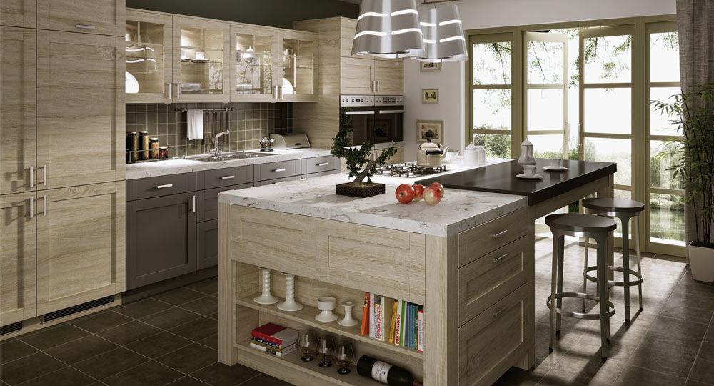 Möbelfolie Eiche Sonoma hell in Küche