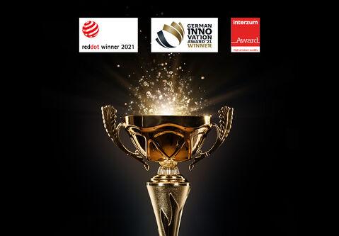 Dreifach, zweifach ‒ einfach ausgezeichnet in Design, Funktion und Innovation: drei _skai_ Produkte auf Award-Erfolgskurs 2021!