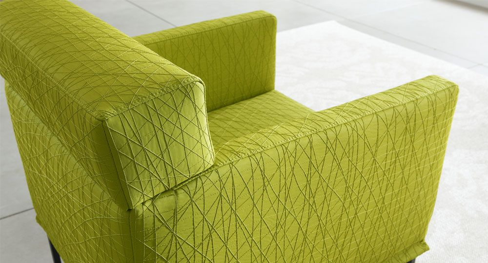 Artificial leather from skai® in green & olive for upholstered furniture