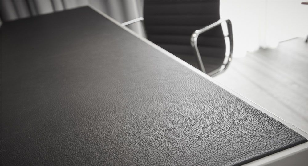 Artificial leather from skai® in black and anthracite for contract furnishing and upholstered furniture
