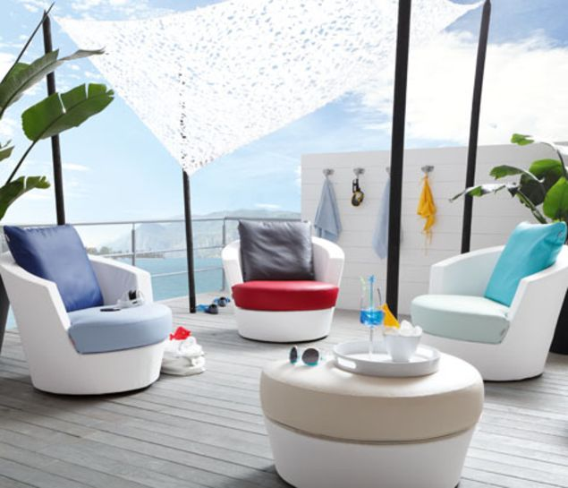 skai® artificial leather upholstery materials for outdoor area on boats
