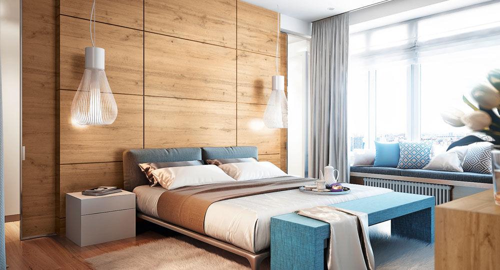 Möbelfolie Eiche in Schlafzimmer