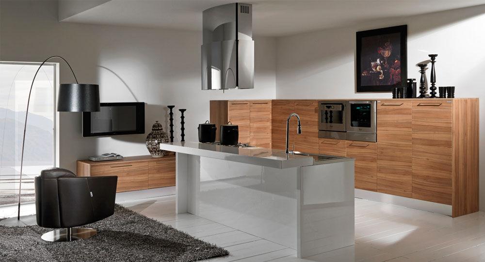 Möbelfolie in Holzoptik in Küche