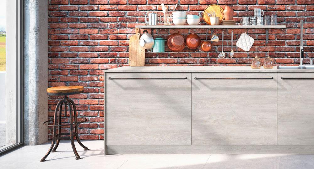 Möbelfolie in Holzoptik für Küchenmöbel