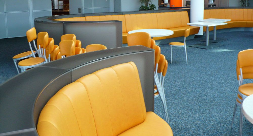 skai® Artificial leather in yellow and orange