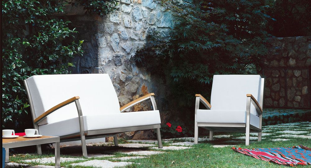 skai® Artificial leather in white and light beige for seat cushions