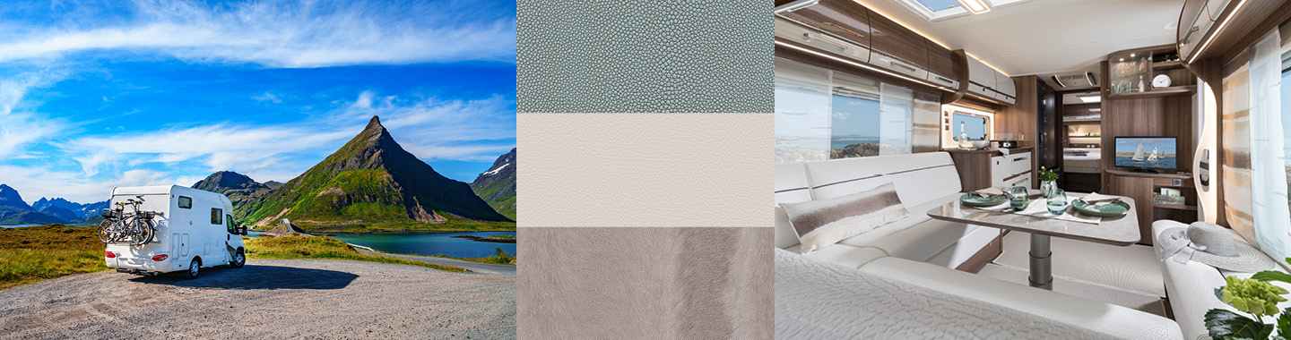 High-quality skai® Upholstery Fabrics for Mobile Homes and Caravans