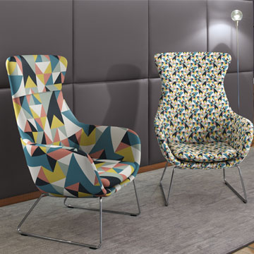 Artificial leather printed with an individual pattern for upholstered furniture